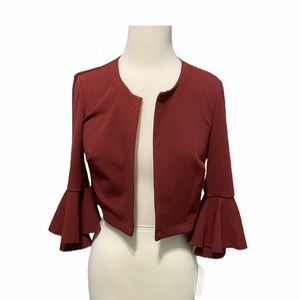 Signature Robbie Bee wine bell sleeve jacket